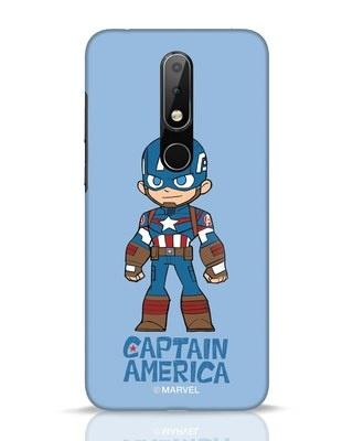 Shop Star Captain America Nokia 6.1 Plus Mobile Cover-Front
