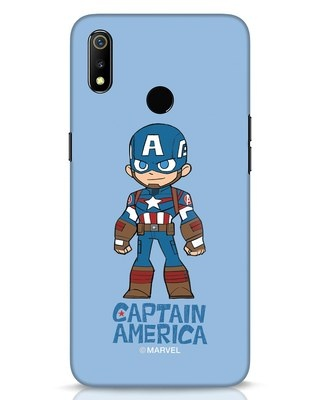 Shop Star Captain America Realme 3 Mobile Cover-Front