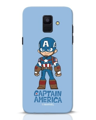 Shop Star Captain America Samsung Galaxy A6 2018 Mobile Cover-Front