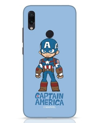 Shop Star Captain America Xiaomi Redmi Note 7 Pro Mobile Cover-Front