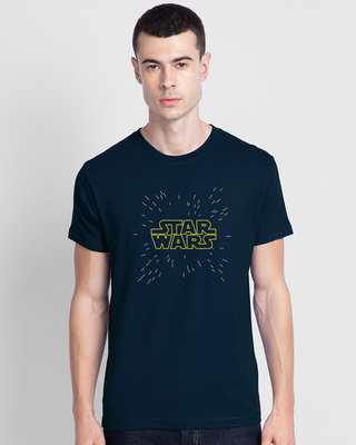 Shop Star Shower Half Sleeve T-Shirt (SWL)-Front