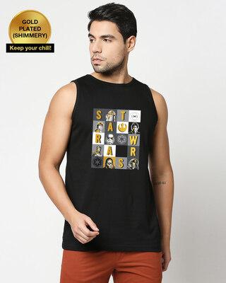 Shop Star Wars Blocks Vest (SWL) Black-Front