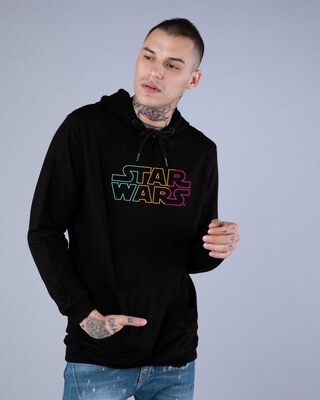 Shop Star Wars Colorful Fleece Hoodie (SWL)-Front