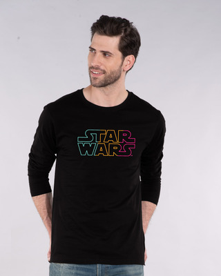 Shop Star Wars Colorful Full Sleeve T-Shirt (SWL)-Front