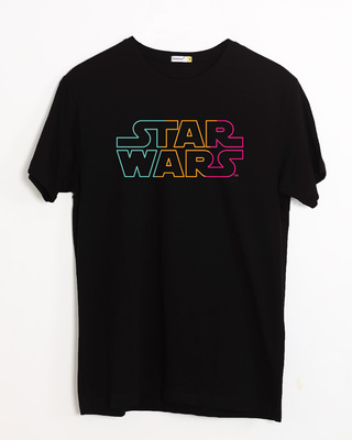 Shop Star Wars Colorful Half Sleeve T-Shirt (SWL)-Front