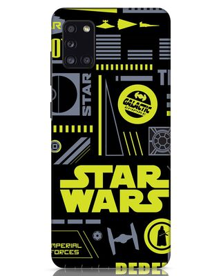 Shop Star Wars Pattern Rebel Samsung Galaxy A31 Mobile Cover-Front