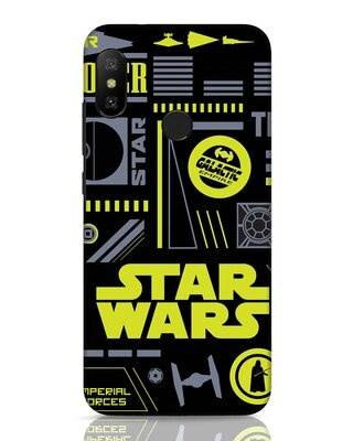Shop Star Wars Pattern Rebel Xiaomi Redmi 6 Pro Mobile Cover-Front