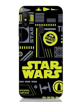 Shop Star Wars Pattern Rebel Xiaomi Redmi Note 6 Pro Mobile Cover-Front