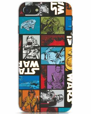 Shop Star Wars Retro iPhone 7 Mobile Cover (SWL)-Front