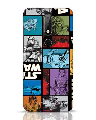 Shop Star Wars Retro Nokia 6.1 Plus Mobile Cover (SWL)-Front