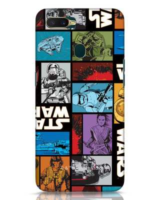 Shop Star Wars Retro Oppo A7 Mobile Cover (SWL)-Front