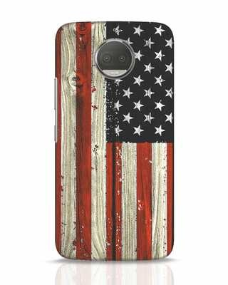 Shop Stars And Stripes Wood Moto G5s Plus Mobile Cover-Front