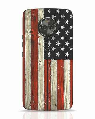 Shop Stars And Stripes Wood Moto X4 Mobile Cover-Front