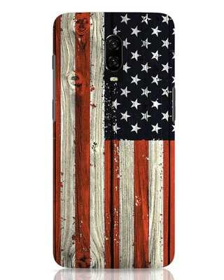 Shop Stars And Stripes Wood OnePlus 6T Mobile Cover-Front