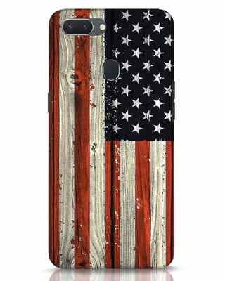 Shop Stars And Stripes Wood Realme 2 Mobile Cover-Front