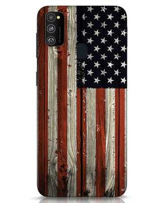 Shop Stars And Stripes Wood Samsung Galaxy M30s Mobile Cover-Front