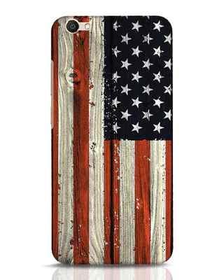 Shop Stars And Stripes Wood Vivo V5 Mobile Cover-Front