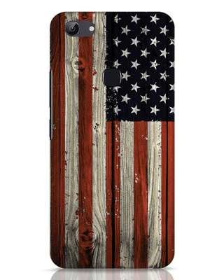 Shop Stars And Stripes Wood Vivo Y83 Mobile Cover-Front