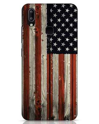 Shop Stars And Stripes Wood Vivo Y91 Mobile Cover-Front
