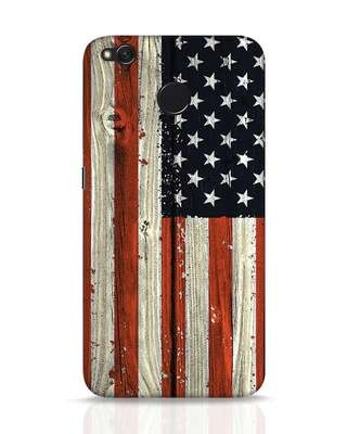 Shop Stars And Stripes Wood Xiaomi Redmi 4 Mobile Cover-Front