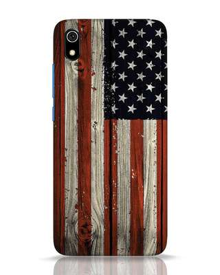 Shop Stars And Stripes Wood Xiaomi Redmi 7A Mobile Cover-Front