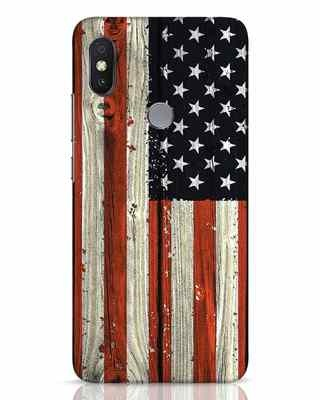 Shop Stars And Stripes Wood Xiaomi Redmi Y2 Mobile Cover-Front