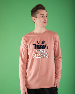 Shop Start Sleeping Full Sleeve T-Shirt-Front