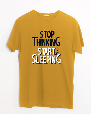 Shop Start Sleeping Half Sleeve T-Shirt-Front