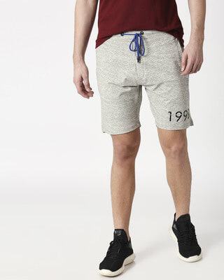 Shop Status Quo Ecru Elasticated Shorts-Front