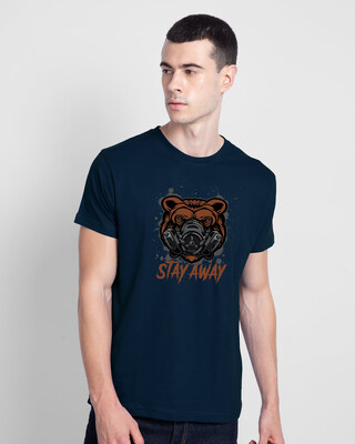 Shop Stay Away Bear Half Sleeve T-Shirt-Front