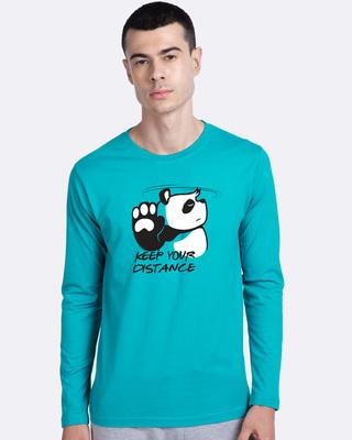 Shop Stay Away Panda  Full Sleeve T-Shirt-Front