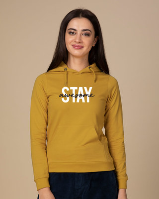 Shop Stay Awesome Fleece Hoodies-Front
