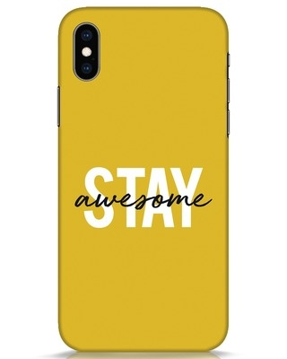 Shop Stay Awesome iPhone XS Mobile Cover-Front