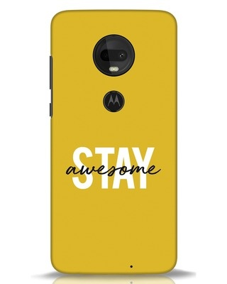 Shop Stay Awesome Moto G7 Mobile Cover-Front