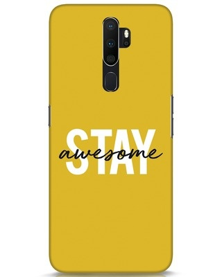 Shop Stay Awesome Oppo A5 2020 Mobile Cover-Front