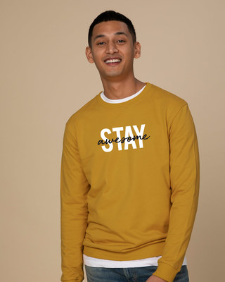 Shop Stay Awesome Sweatshirt-Front
