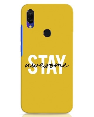 Shop Stay Awesome Xiaomi Redmi 7 Mobile Cover-Front