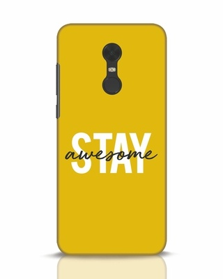 Shop Stay Awesome Xiaomi Redmi Note 5 Mobile Cover-Front
