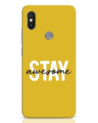 Shop Stay Awesome Xiaomi Redmi Y2 Mobile Cover-Front