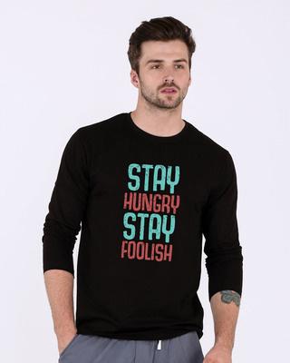 Shop Stay Foolish Full Sleeve T-Shirt-Front