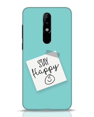 Shop Stay Happy Smile Nokia 5.1 Plus Mobile Cover-Front
