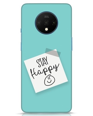 Shop Stay Happy Smile OnePlus 7T Mobile Cover-Front