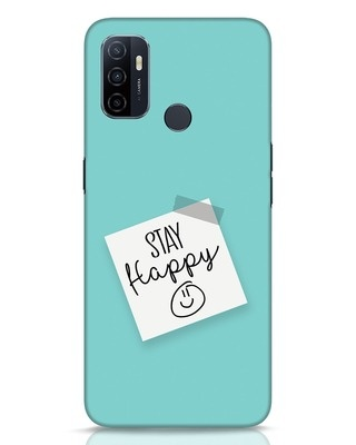 Shop Stay Happy Smile Oppo A53 Mobile Cover-Front