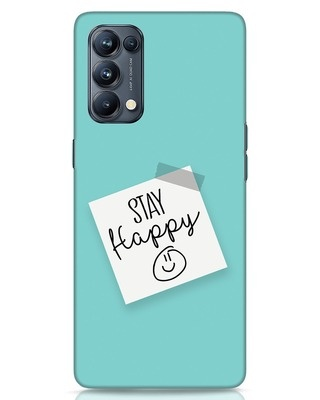 Shop Stay Happy Smile Oppo Reno 5 Pro Mobile Cover-Front