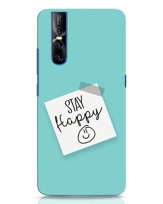 Shop Stay Happy Smile Vivo V15 Pro Mobile Cover-Front