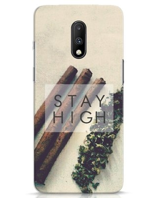 Shop Stay High OnePlus 7 Mobile Cover-Front