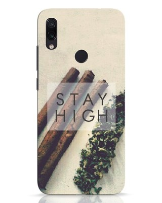 Shop Stay High Xiaomi Redmi Note 7 Pro Mobile Cover-Front