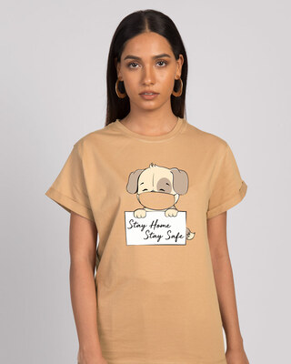 Shop Stay Home Dog Boyfriend T-Shirt-Front