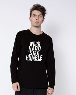 Shop Stay Humble Full Sleeve T-Shirt-Front