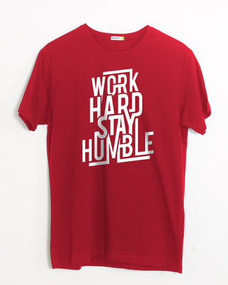 Shop Stay Humble Half Sleeve T-Shirt-Front